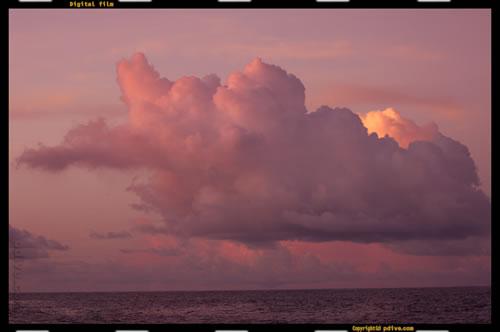 マーシャル諸島 アルノ環礁の南海上 2005/08/15 船上撮影